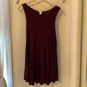 Maroon Shirt Dress